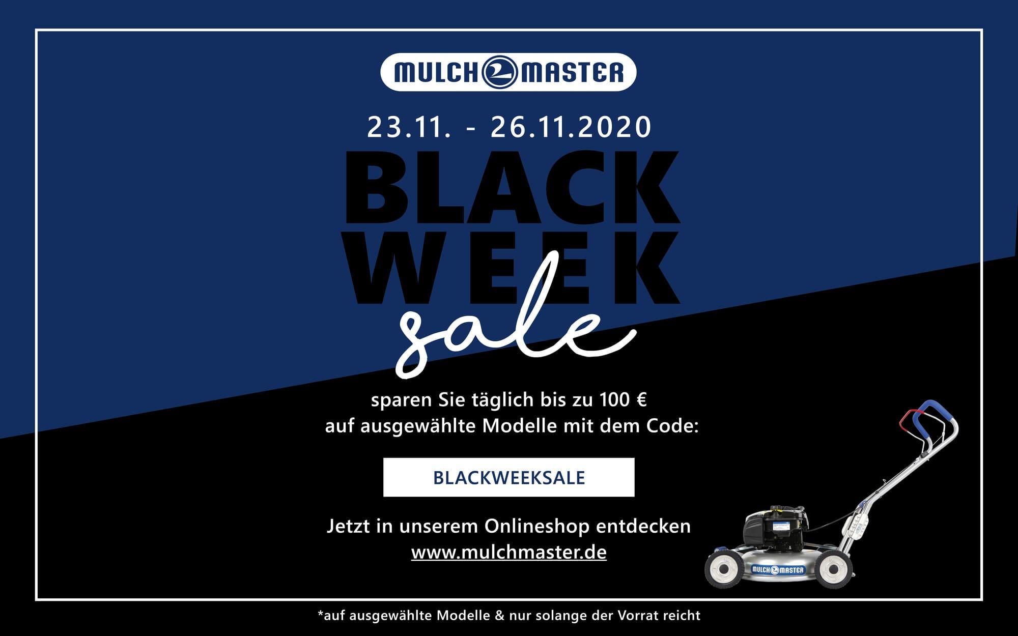 Black Week Angebote bei mulchmaster.de