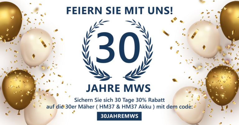 Read more about the article Anniversary offer 30 years of MWS cutting tools